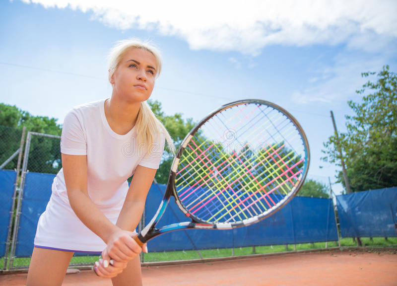 Joueur de tennis photo libre de droits