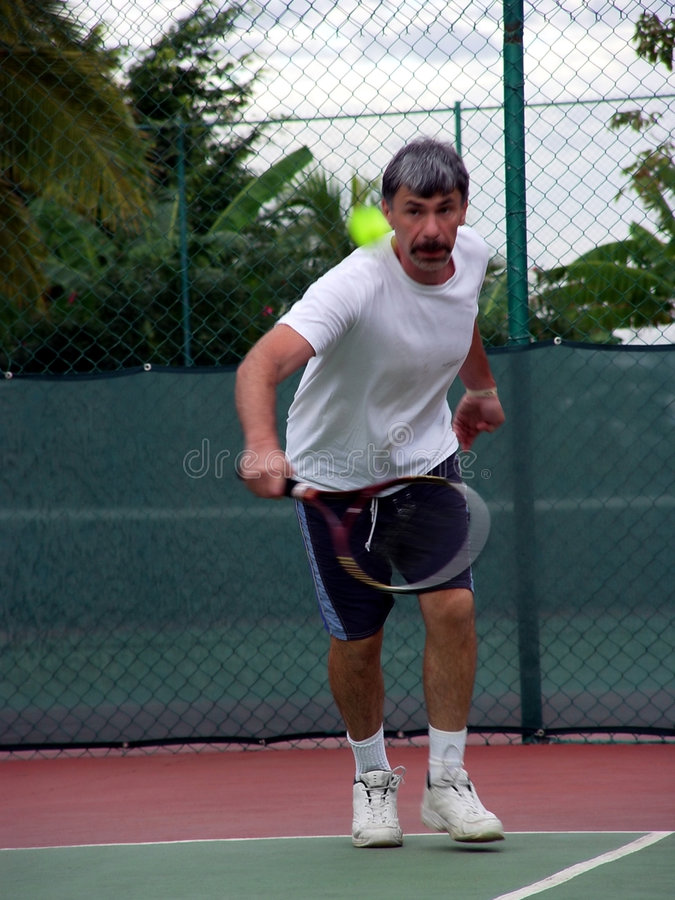 Joueur De Tennis Photo stock