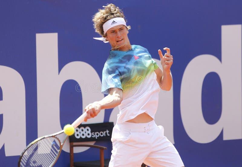 Joueur de tennis allemand Alexander Zverev Jr photo libre de droits