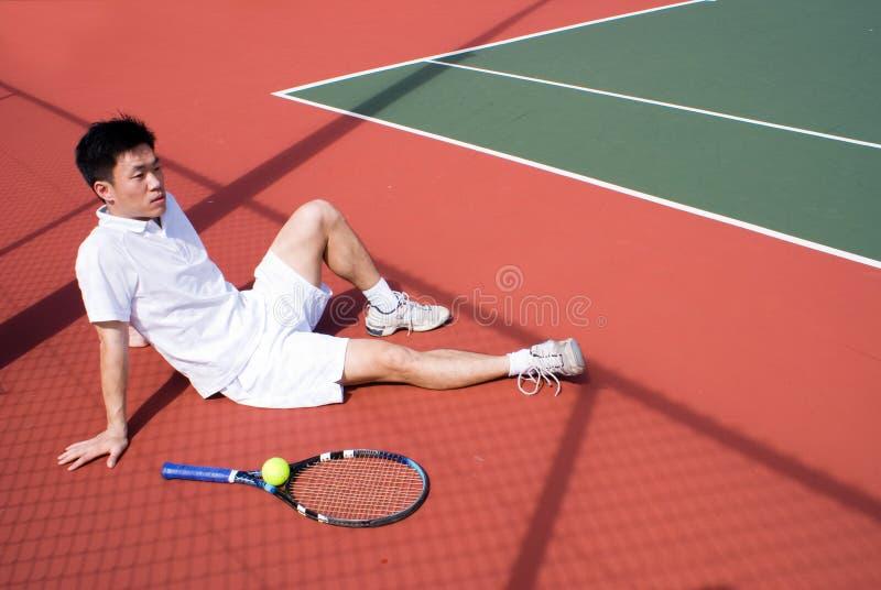 Joueur de tennis asiatique photo libre de droits