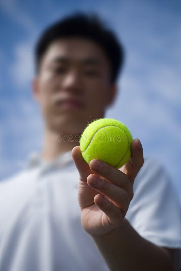 Joueur de tennis d'Aisan photographie stock