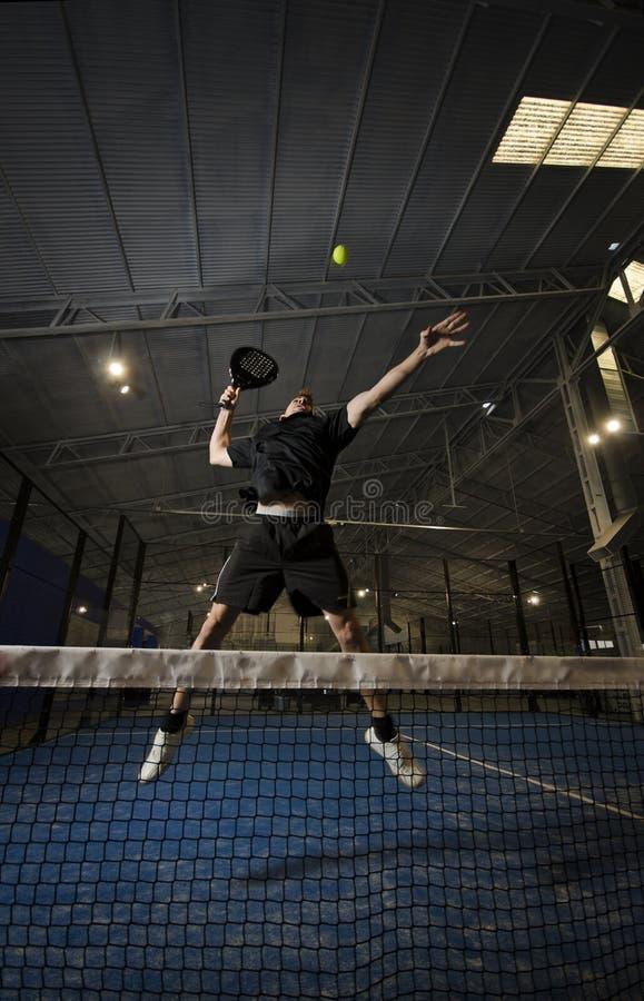 Joueur de tennis de palette image stock