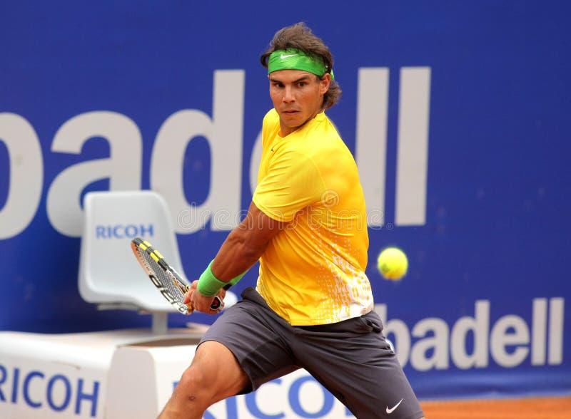 Joueur de tennis espagnol Rafa Nadal image stock