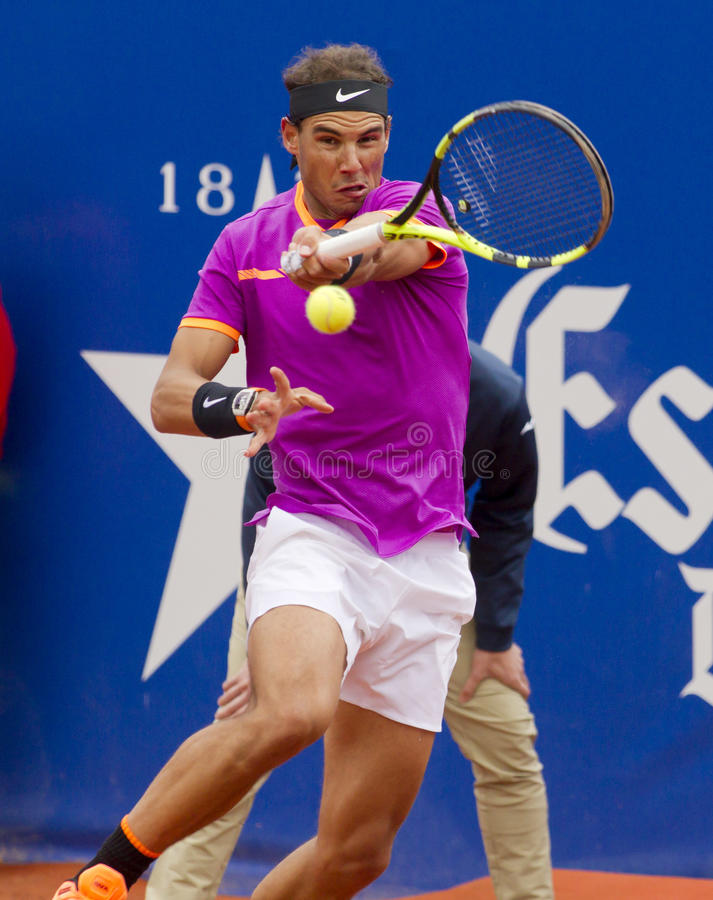 Joueur de tennis espagnol Rafael Nadal image libre de droits