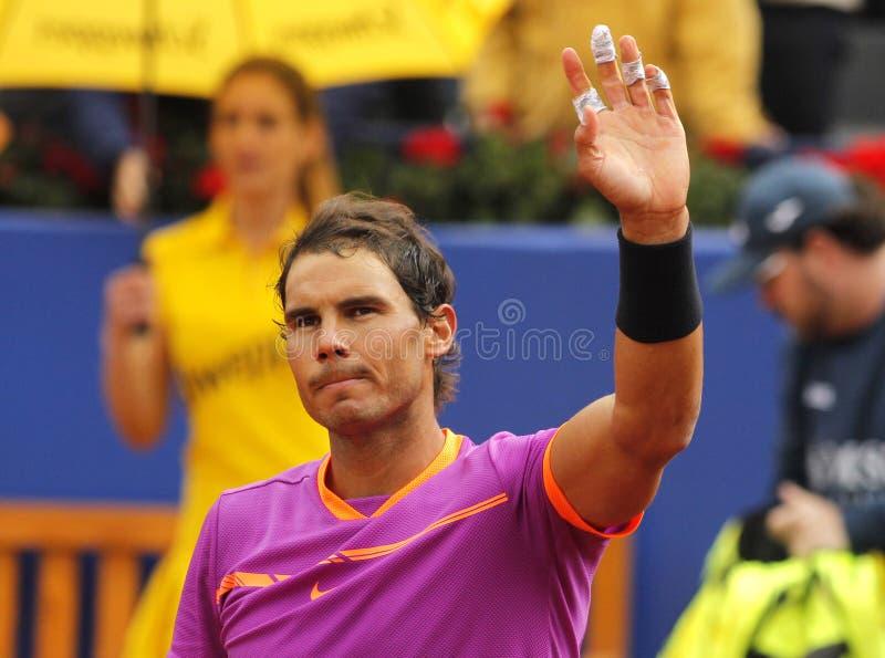Joueur de tennis espagnol Rafael Nadal image stock