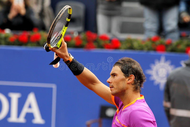 Joueur de tennis espagnol Rafael Nadal photos stock