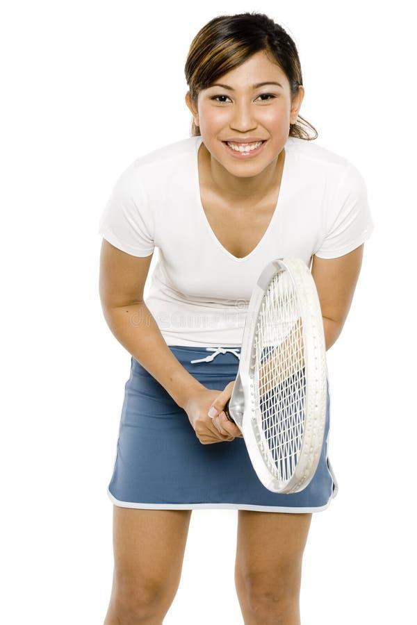 Joueur de tennis féminin image stock