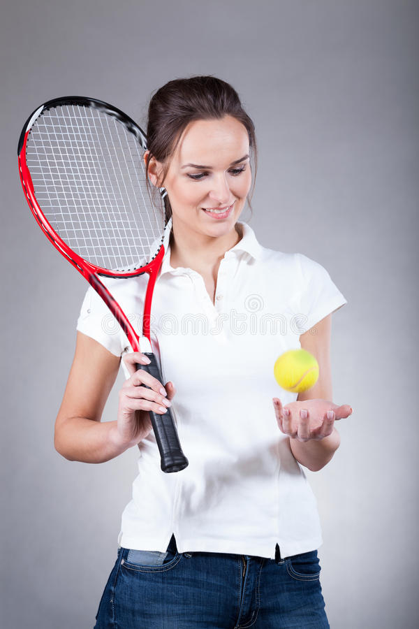 Joueur de tennis féminin photos stock