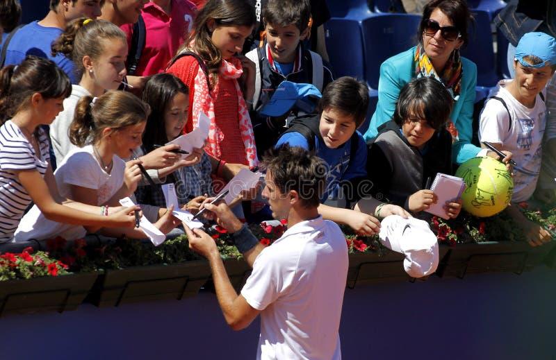 Joueur de tennis français Edouard Roger-Vasselin photos libres de droits