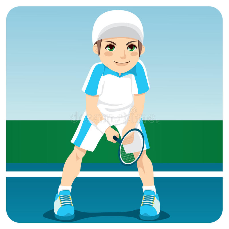 Joueur de tennis professionnel illustration stock