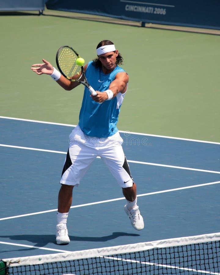Joueur de tennis Rafael Nadal image libre de droits