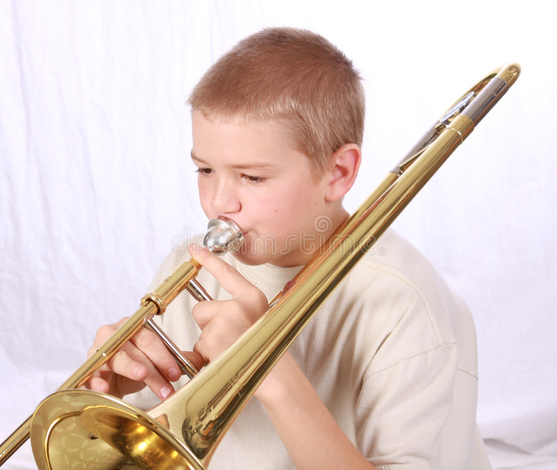 Joueur de Trombone 12 images stock