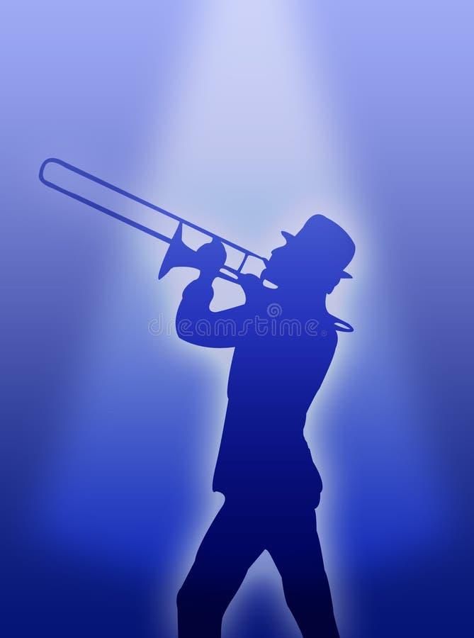 Joueur de trompette illustration stock