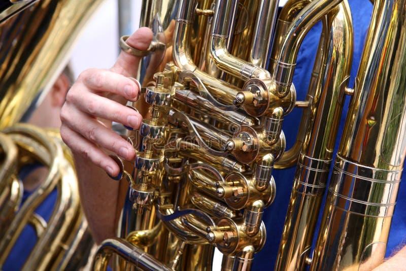Joueur de Tuba photo libre de droits