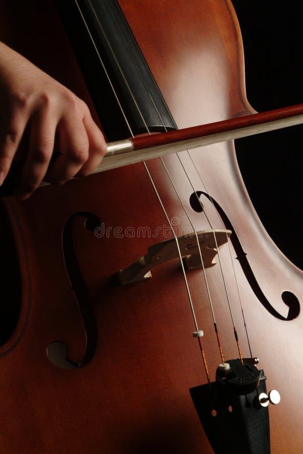 Joueur de violoncelle photo libre de droits