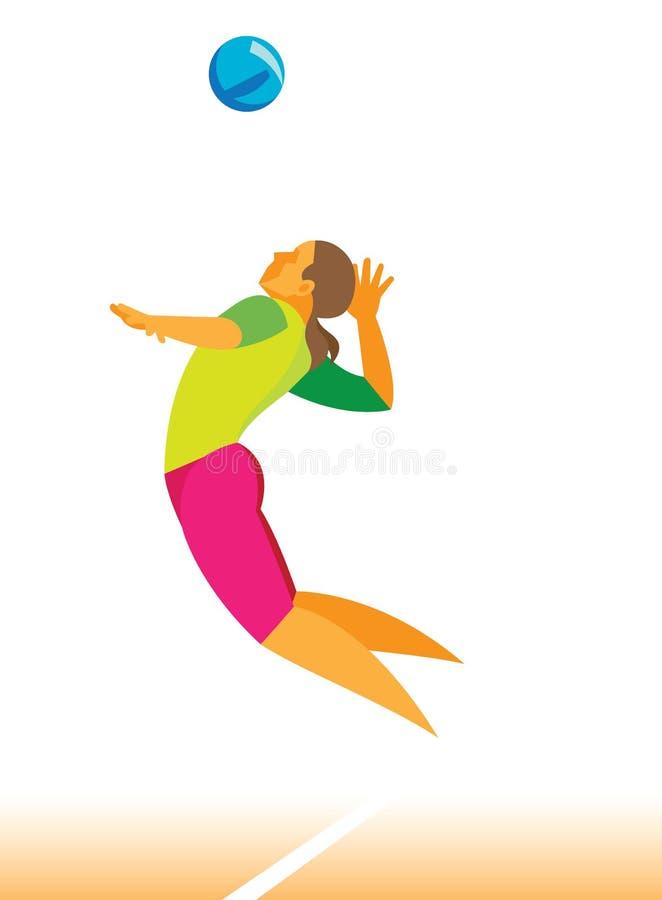 Joueur de volleyball Jeune femme 15 illustration libre de droits