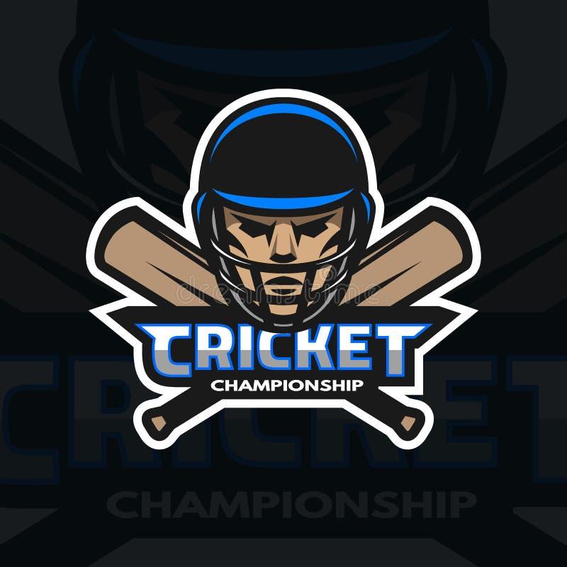 Joueur et chauves-souris de cricket illustration stock