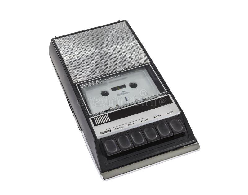 Joueur et enregistreur portatifs d'enregistreur à cassettes de cru images libres de droits