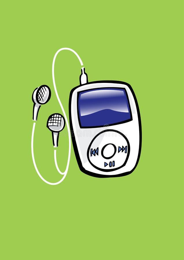Joueur Mp3 illustration libre de droits