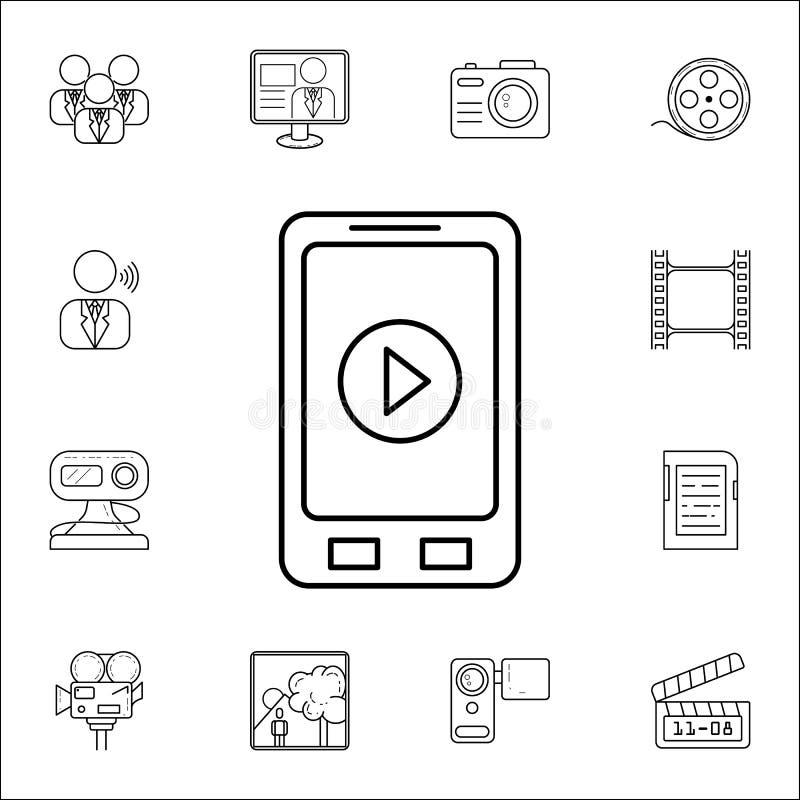 joueur sur le phoneicon Ensemble universel d'icônes de media pour le Web et le mobile illustration libre de droits