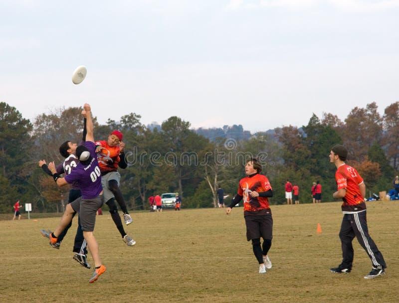 Joueurs éventuels de frisbee images libres de droits