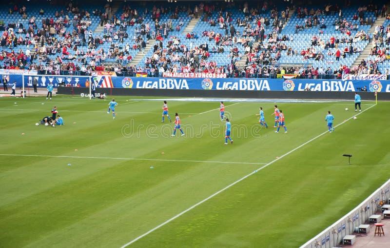 Joueurs Atletico de Madrid photo stock