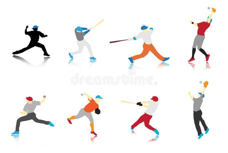 Joueurs de baseball illustration libre de droits