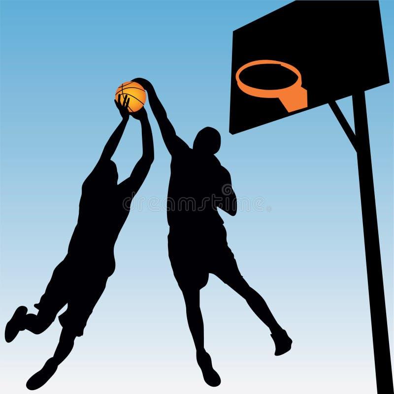 Joueurs de basket illustration stock