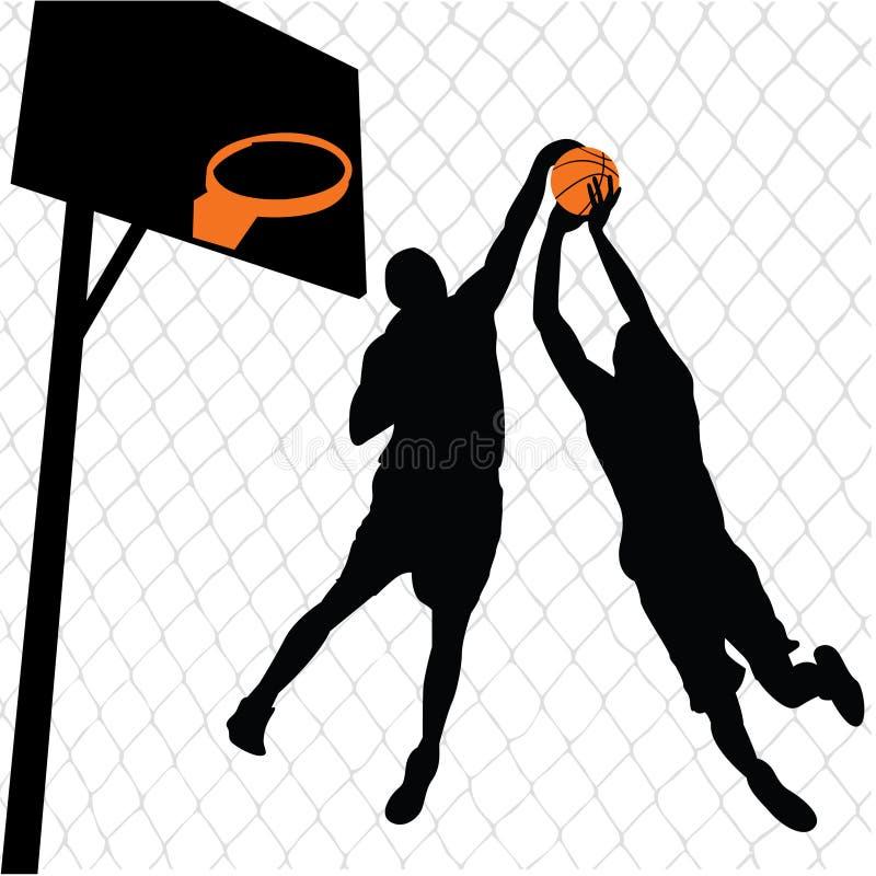 Joueurs de basket illustration de vecteur