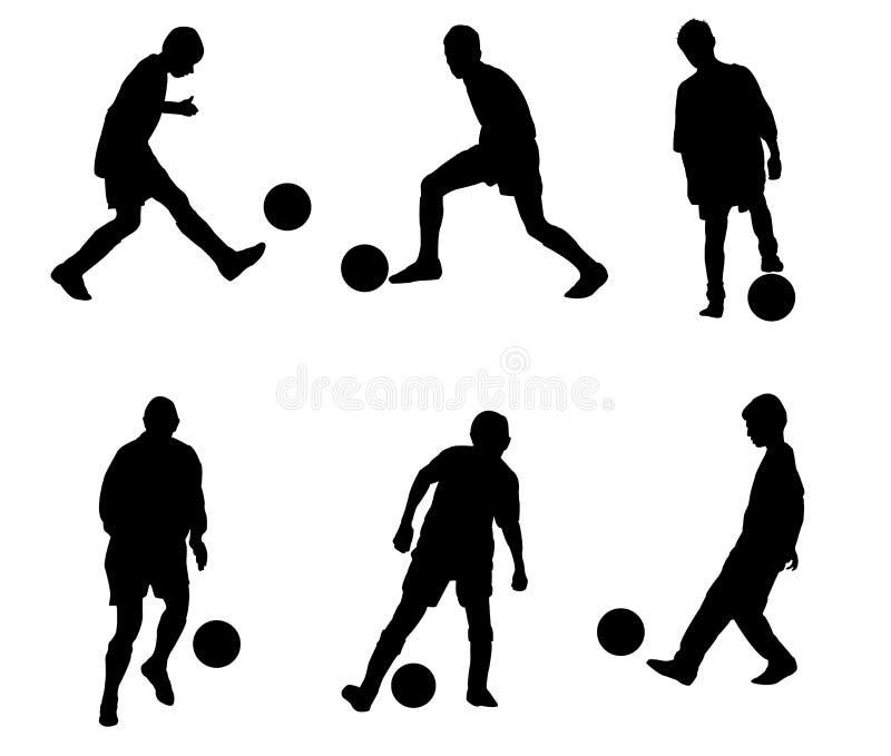 Joueurs de football illustration de vecteur
