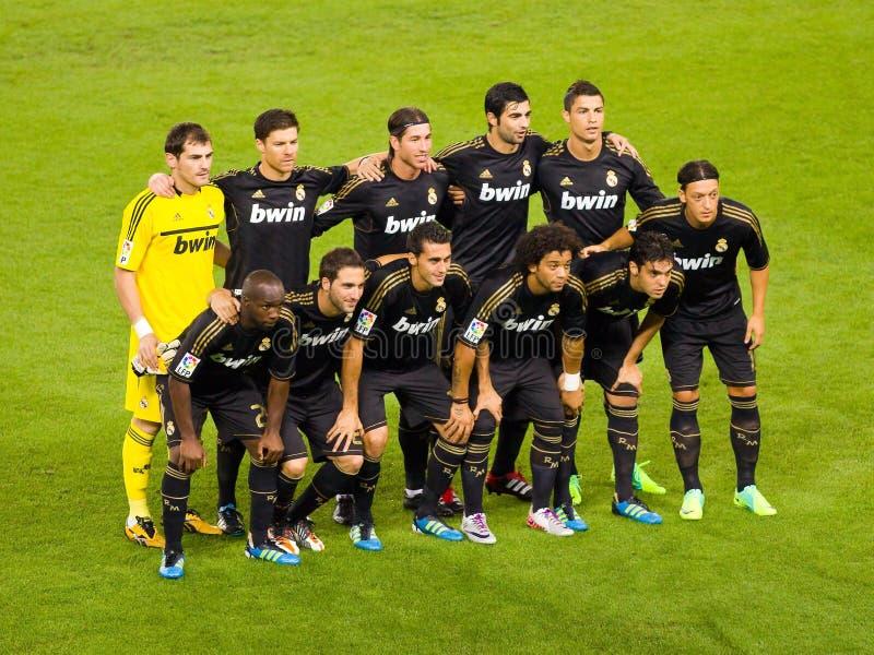 Joueurs de football de Real Madrid image stock