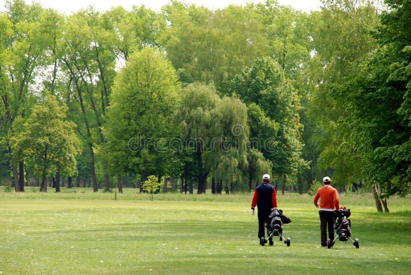 Joueurs de golf images libres de droits