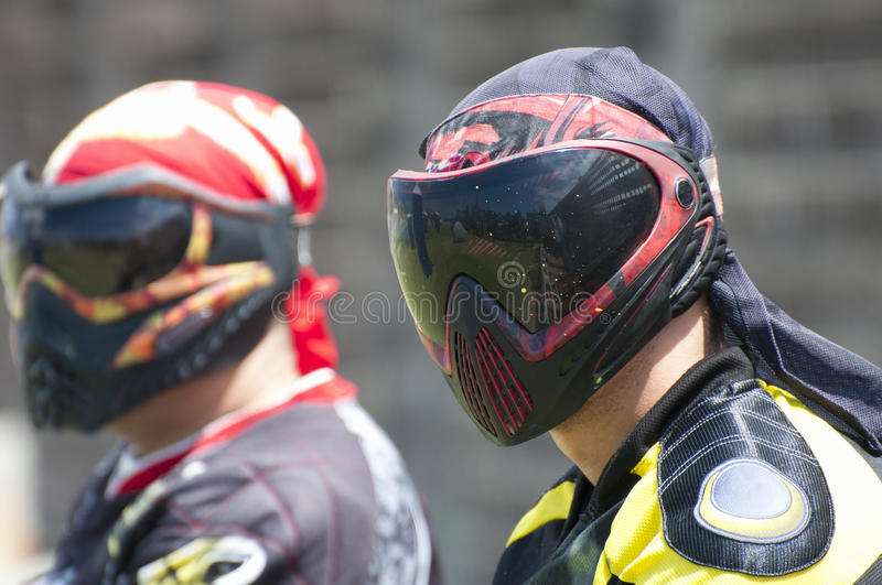 Joueurs de Paintball photos stock