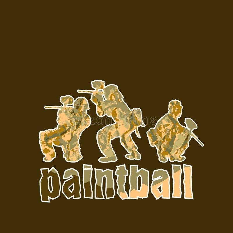 Joueurs de Paintball illustration libre de droits