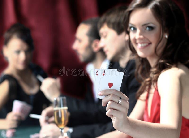 Joueurs de poker images stock