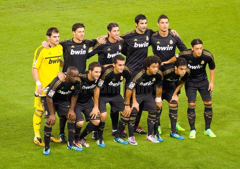 Joueurs de Real Madrid photo libre de droits