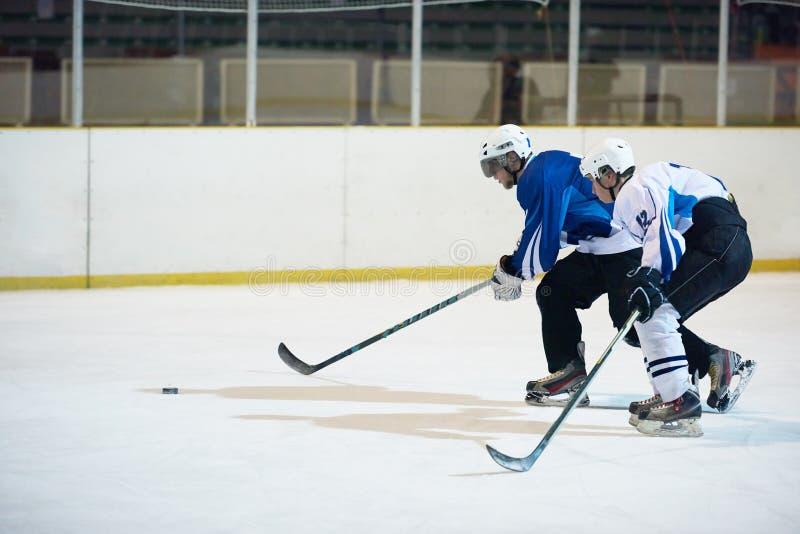 Joueurs de sport de hockey sur glace images stock