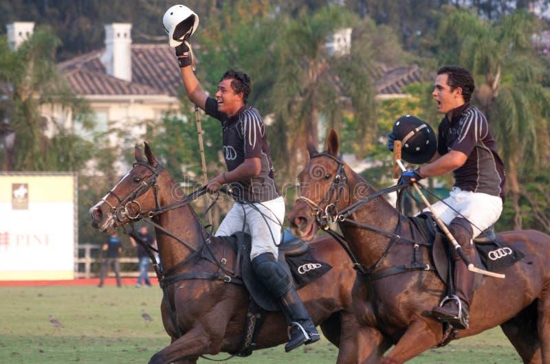 Joueurs mâles de polo photos libres de droits