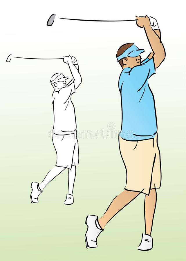 Jouez au golf l'oscillation illustration de vecteur