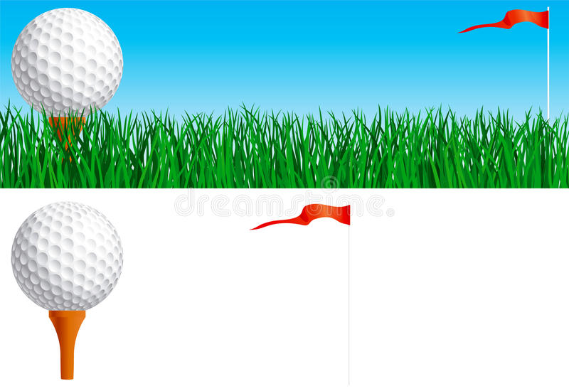 Jouez au golf le positionnement illustration libre de droits