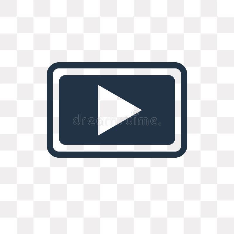 Jouez l'icône de vecteur de bouton d'isolement sur le fond transparent, jeu illustration stock