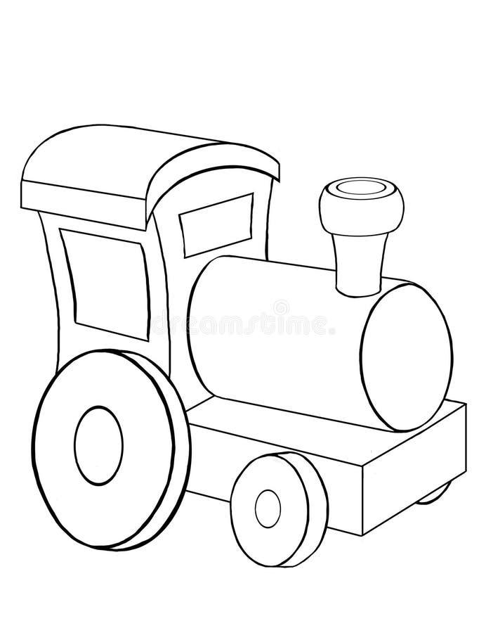 Jouez la locomotive illustration de vecteur