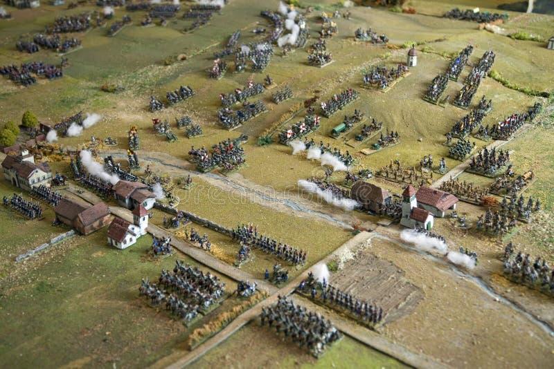 Jouez le champ de bataille de solider à la villa de San Martino sur l'île de l'Île d'Elbe dans l'archipel toscan de l'Italie, l'E photo stock
