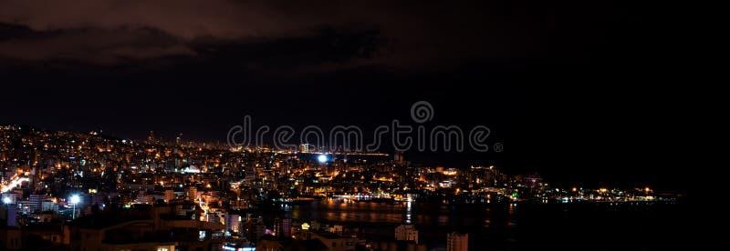 Jounieh en 's nachts Beiroet royalty-vrije stock fotografie