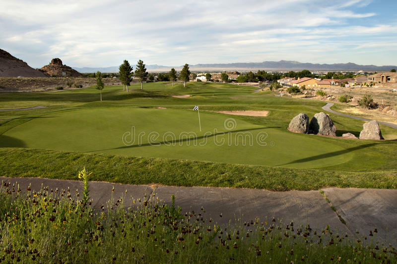 Jouons au golf photo stock