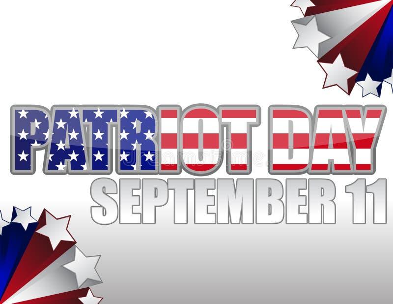 Jour/11 septembre de patriote illustration libre de droits