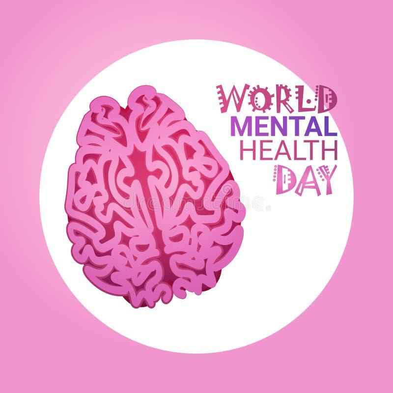 Jour 7 April Global Holiday Concept de santé mentale du monde illustration de vecteur