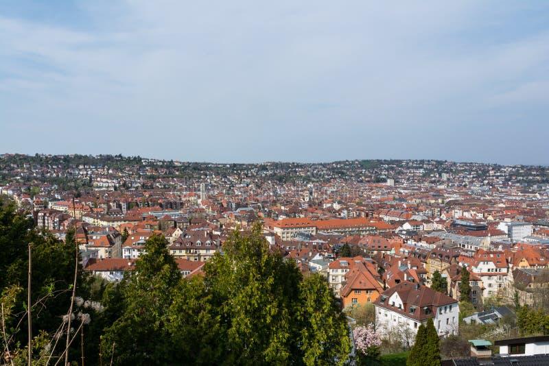 Jour brumeux E orange de ciel bleu de paysage de Stuttgart Kessel beau photographie stock libre de droits
