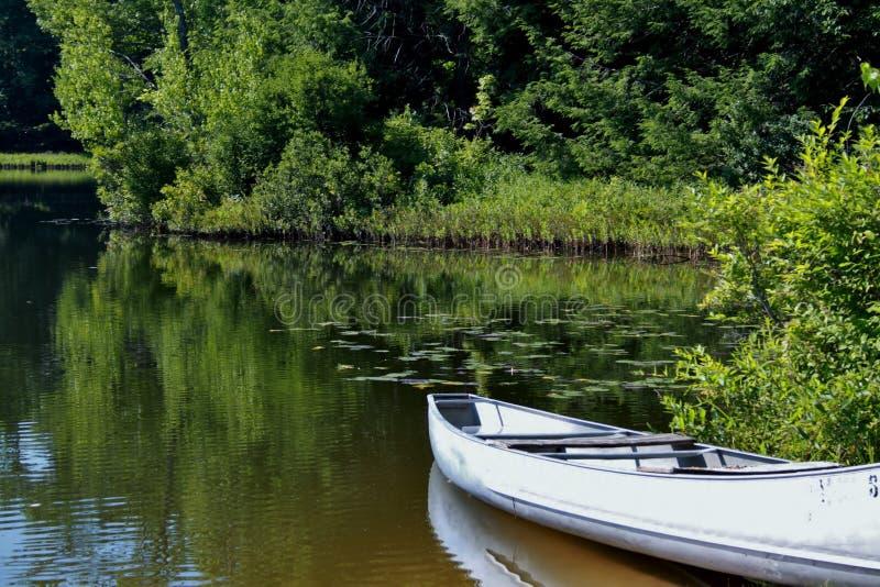 Jour calme au lac images stock