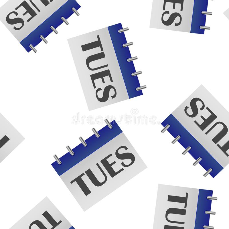 Jour civil de la semaine jeudi Illustration de vecteur faite dans le modèle sans couture de couleurs grises et bleues sur un fond illustration stock